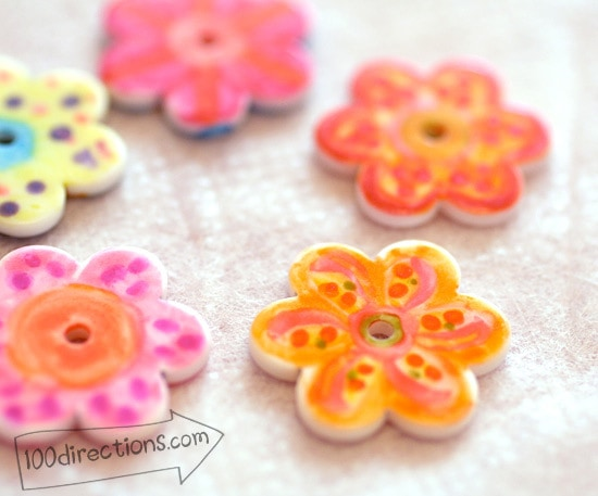 Faux Hand Painted buttons by Jen Goode