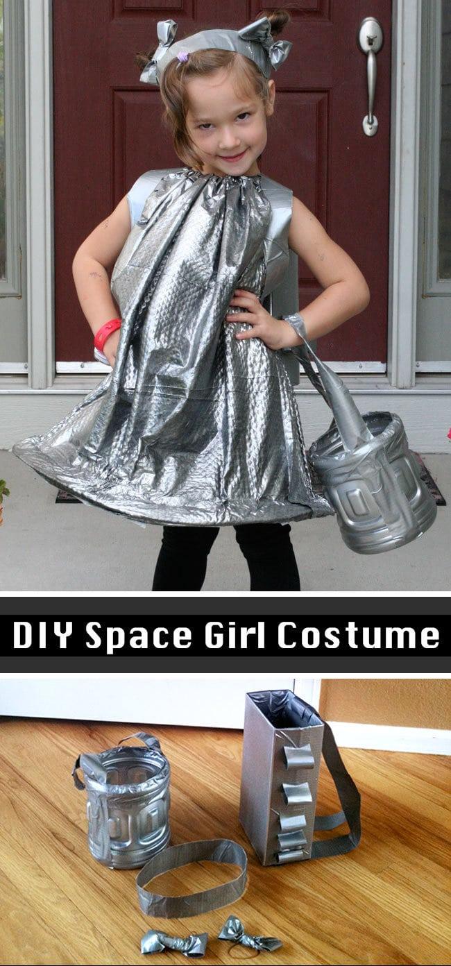 diy space girl costume 100 directions. Black Bedroom Furniture Sets. Home Design Ideas