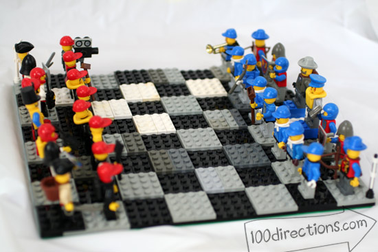 Diy Lego Chess Game Board And Pieces 100 Directions