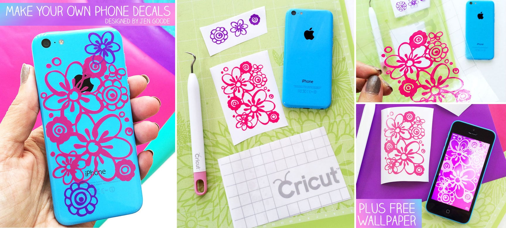 Make Iphone Decals With Cricut Plus Free Floral Iphone