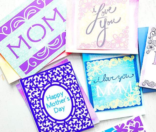 Make Your Own Custom Mothers Day Cards