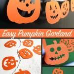 Quick And Easy Halloween Pumpkin Garland 100 Directions