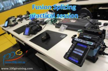 Fusion splicing practical session