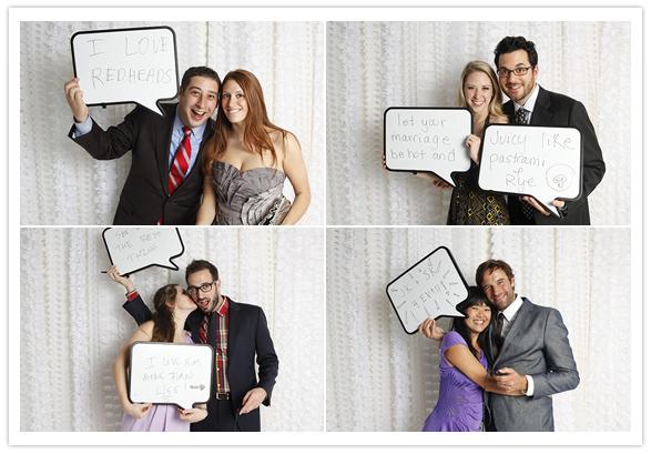speech bubble white board wedding photo