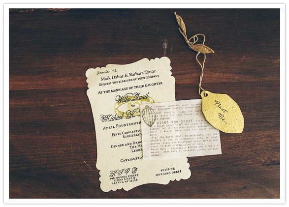 State Wedding Invitations Menu 2 Machusetts