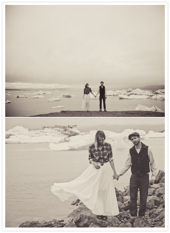 iceland landscape engagement session