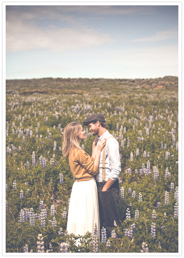 iceland prairie engagement session