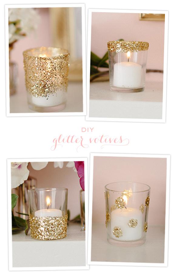 Evite Diy Glitter Candles