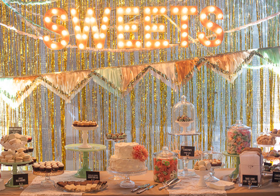 Fringe sweets table | photos by Annie McElwain | 100 Layer Cake