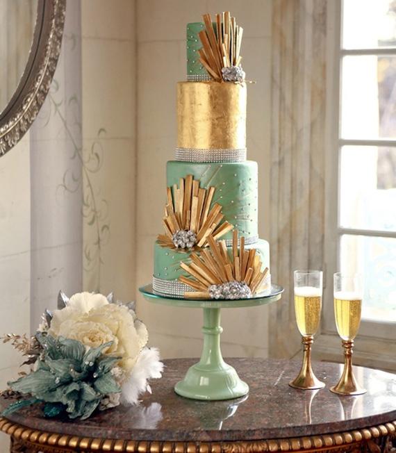Art Deco Wedding Ideas Wedding Fashion 100 Layer Cake