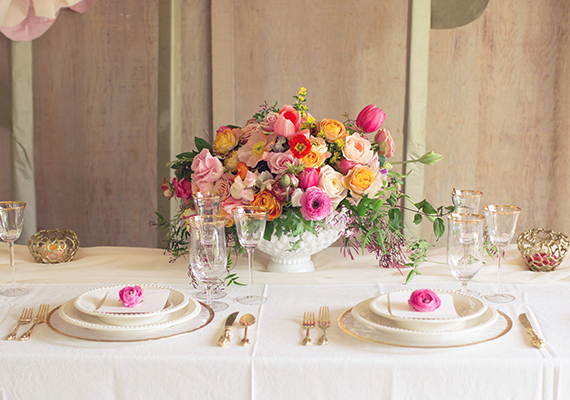 Vibrant Spring wedding ideas | photo by This Love of Yours | 100 Layer Cake