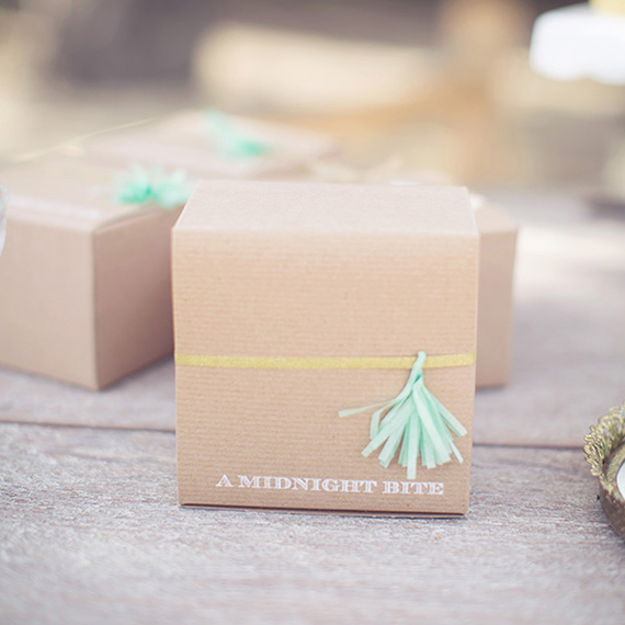 craft box with tassel wedding favor | photo by This Love of Yours | 100 Layer Cake