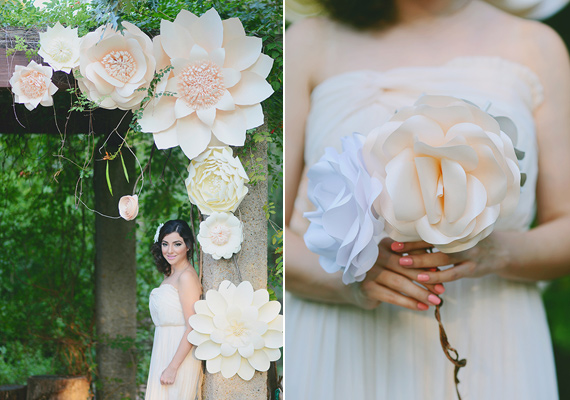 Bride Wearing A Sweetheart Neckline David Tutera Gown Holding Tropical Loose Fl Bouquet