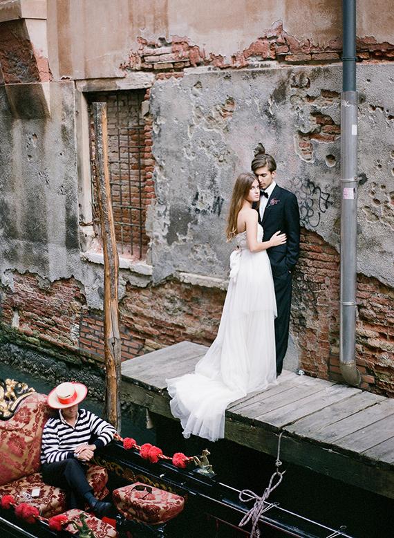 Dark Romantic Wedding Inspiration Venice Italy Wedding