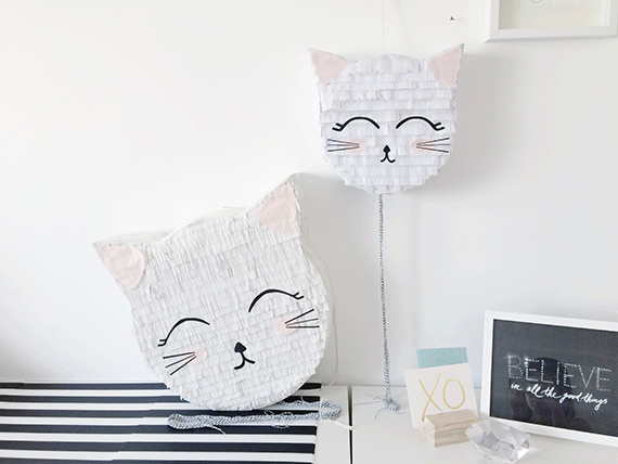 DIY Kitty Piñata Tutorial on 100 Layer Cakelet