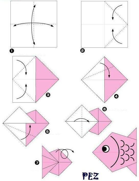 Resultado de imagen para origami paso a paso facil para niños animales...
