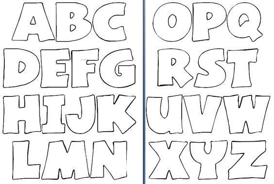Molde de letras para imprimir y recortar - Imagui:...