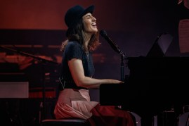 Sara Bareillis playing piano
