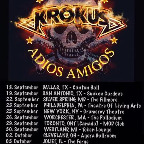 Krokus – Adios Amigos US and Canada Tour Dates Announced