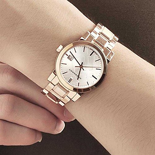 Burberry Watch Womens Swiss Rose Gold Tone Stainless