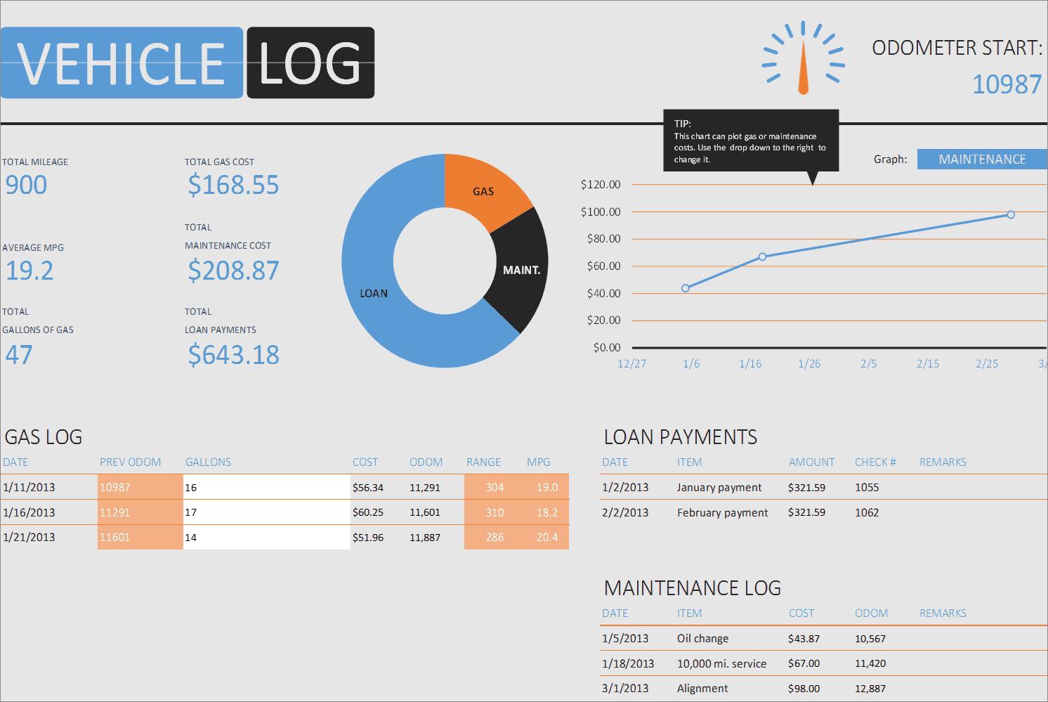 Vehicle Log Book Excel