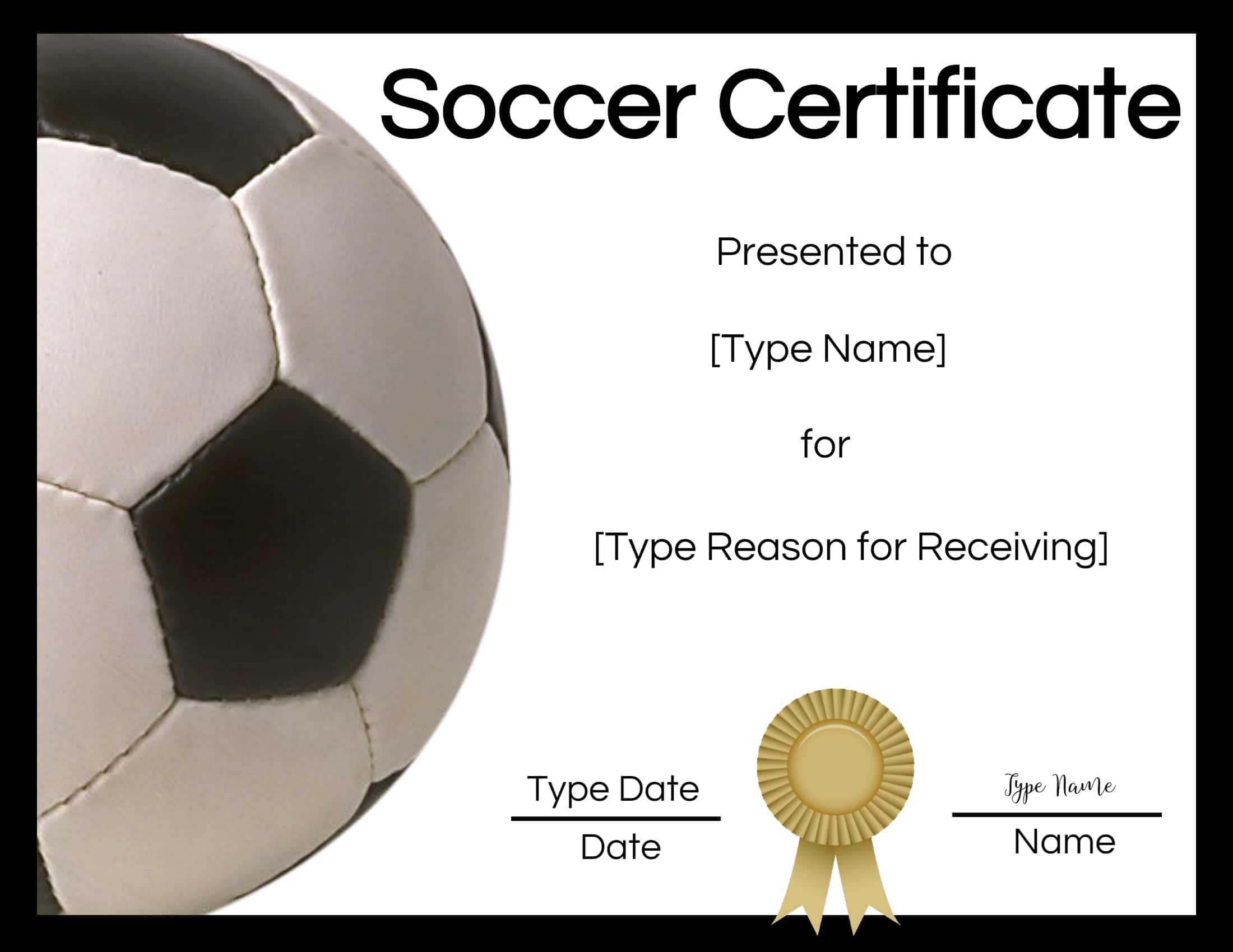Free Soccer Certificate Maker Edit Online And Print At Home