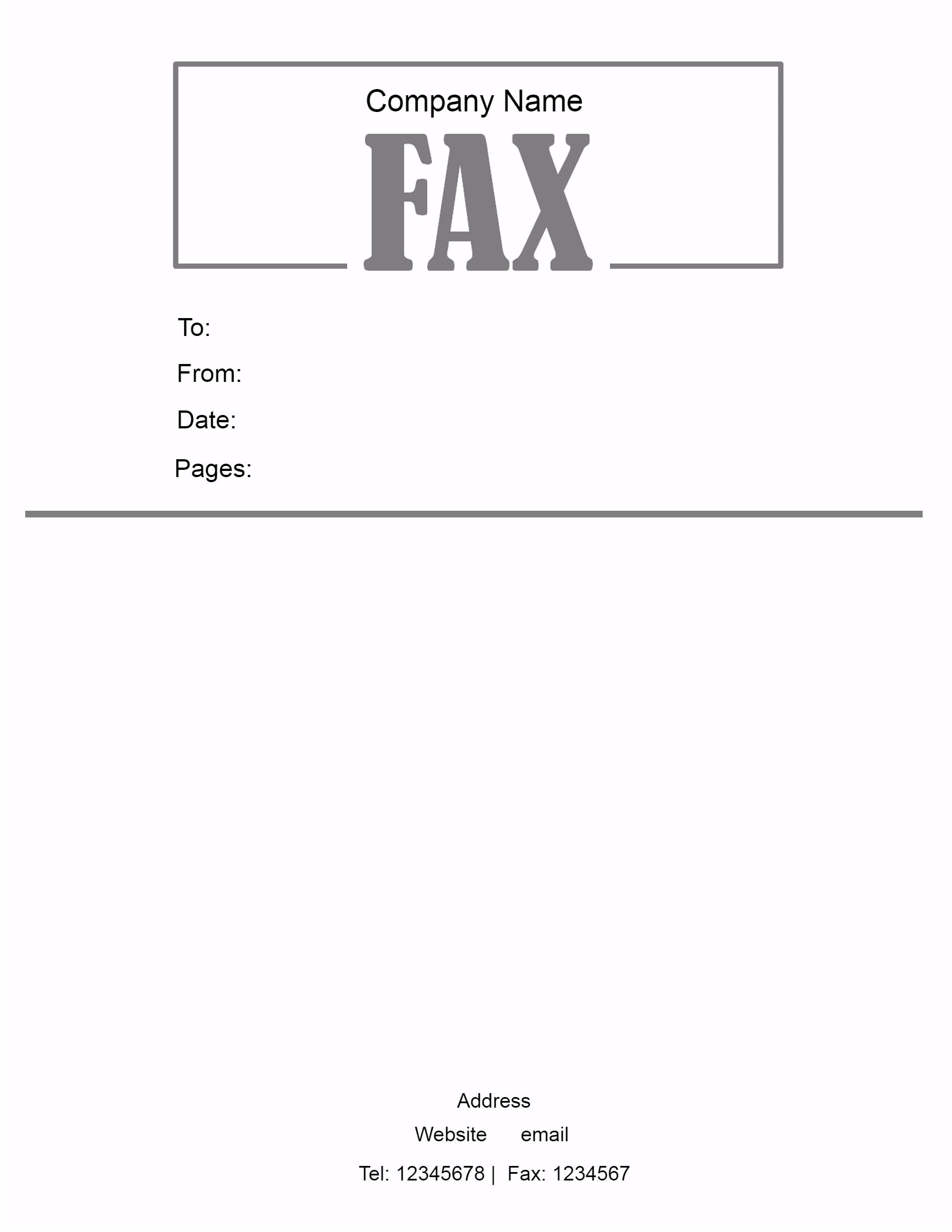 Doc432561 Free Fax Template Free Fax Cover Sheet Template – Free Fax Template