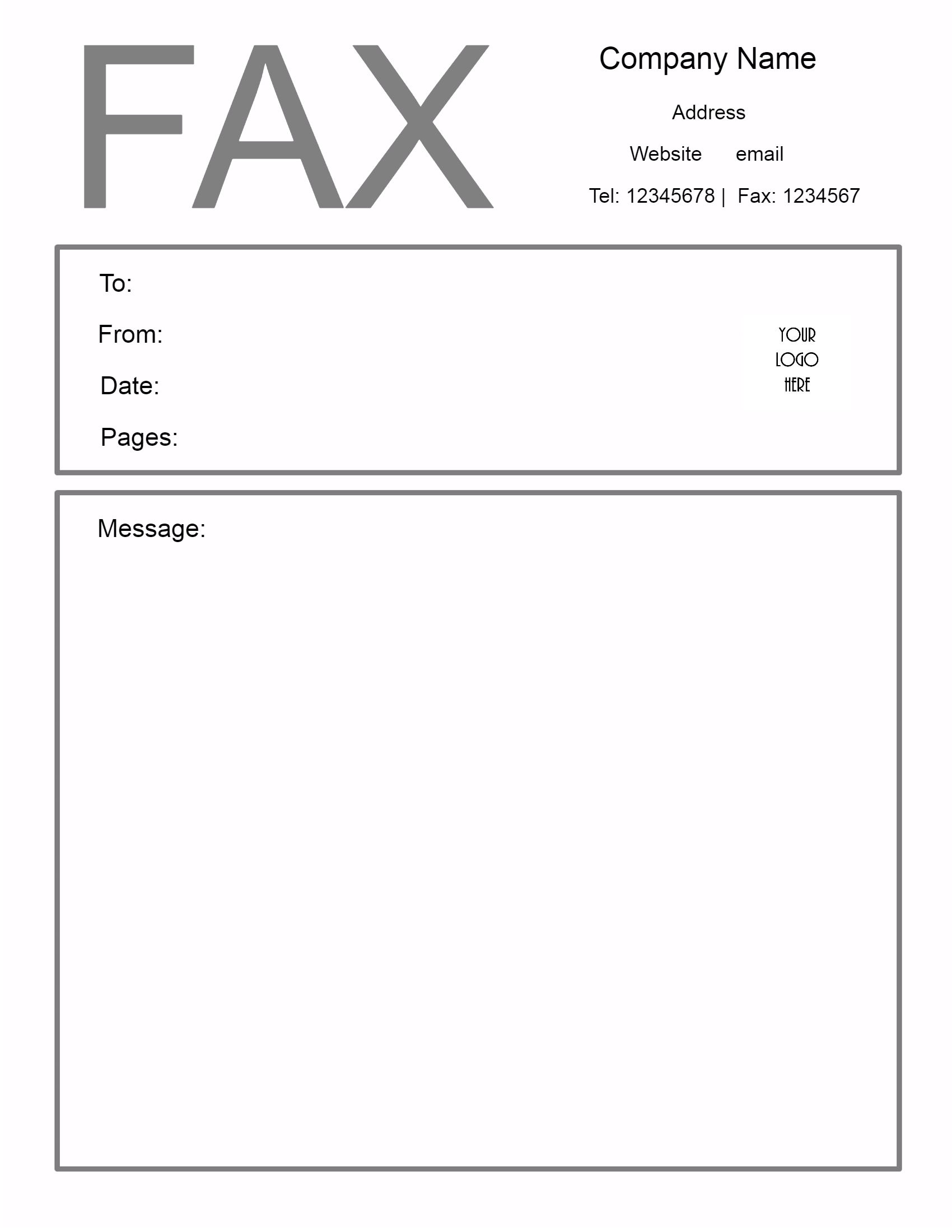 Fax Form Template Free fax cover sheet template microsoft word – Free Fax Templates