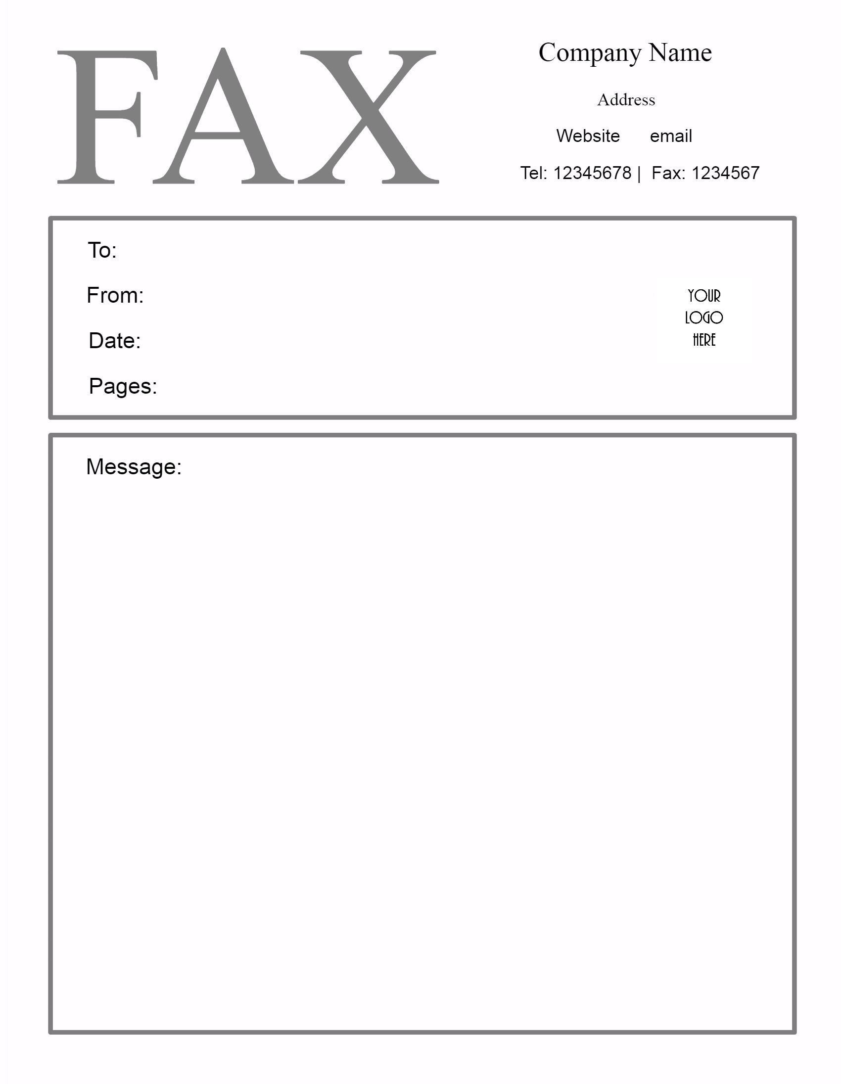 Doc432561 Free Fax Cover Sheet Template Word Free Fax Cover – Fax Template Free