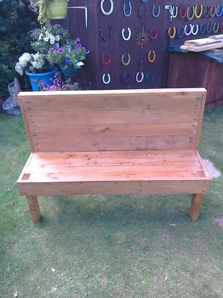 Tremendous Diy Outdoor Pallet Bench 15 Diy Outdoor Pallet Bench Pallet Customarchery Wood Chair Design Ideas Customarcherynet