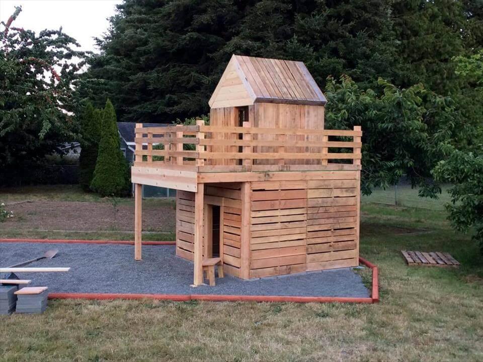 Pallet Playhouse Plans Mansion