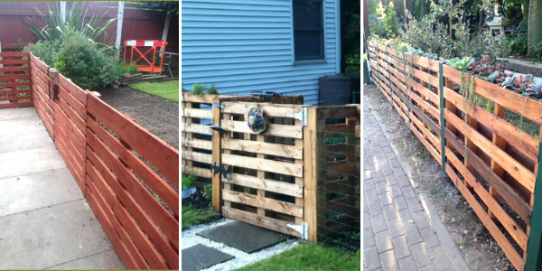 12 Beautiful DIY Pallet Fence Ideas That Anyone Can Build