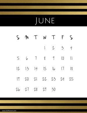 Free Printable June 2019 Calendar Customize Online