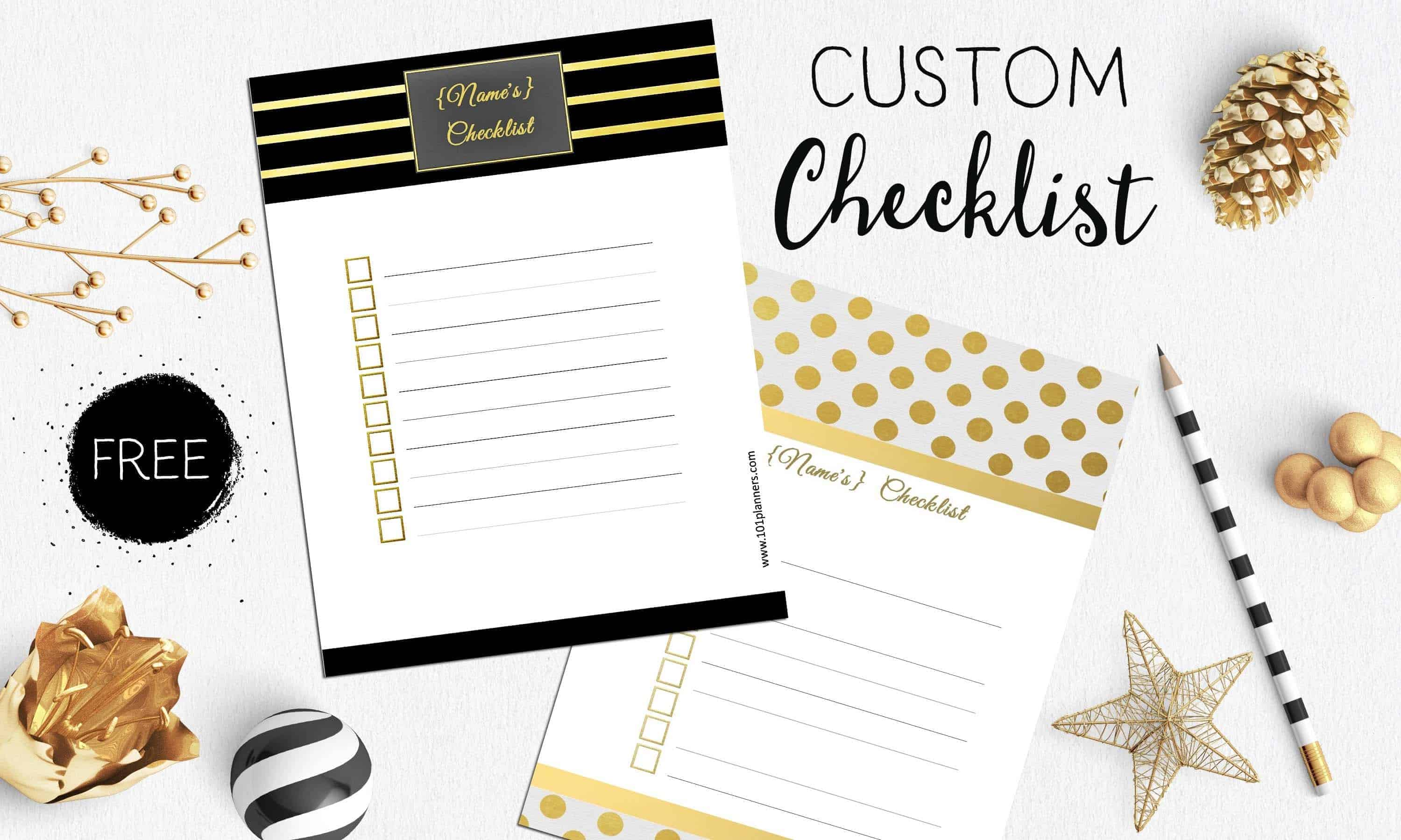 Free Checklist Template Use The Checklist Maker Online Or