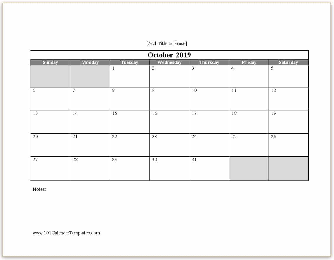Word Calendar 2019