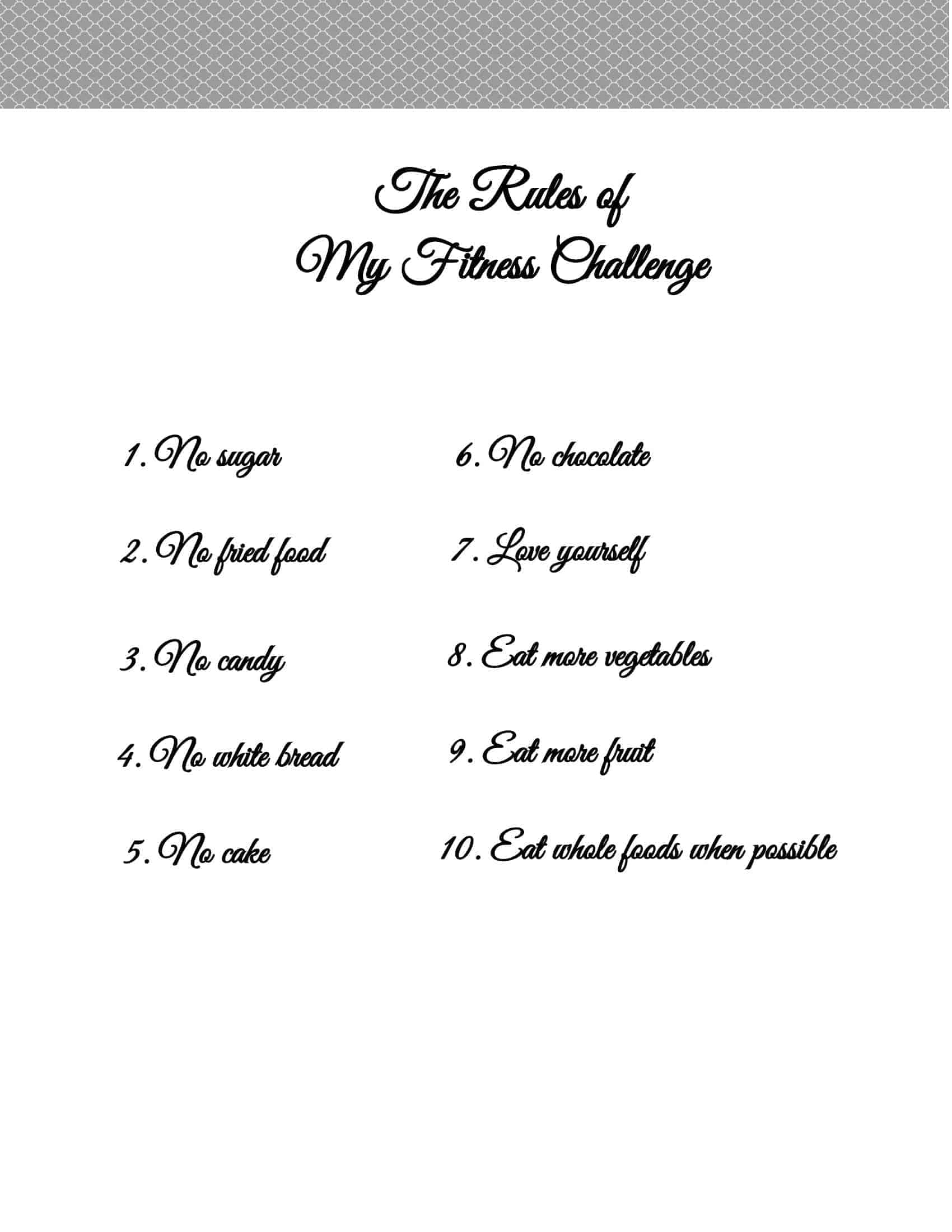 30 Day Weight Loss Challenge Ideas With Free Printables
