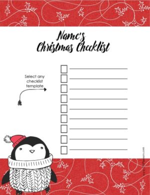 Free Christmas List Template Customize Online Amp Print At Home