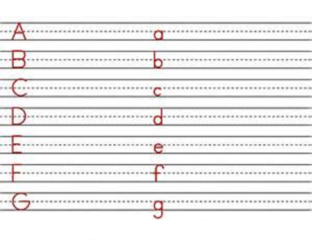 Capital And Lowercase Letters To Print