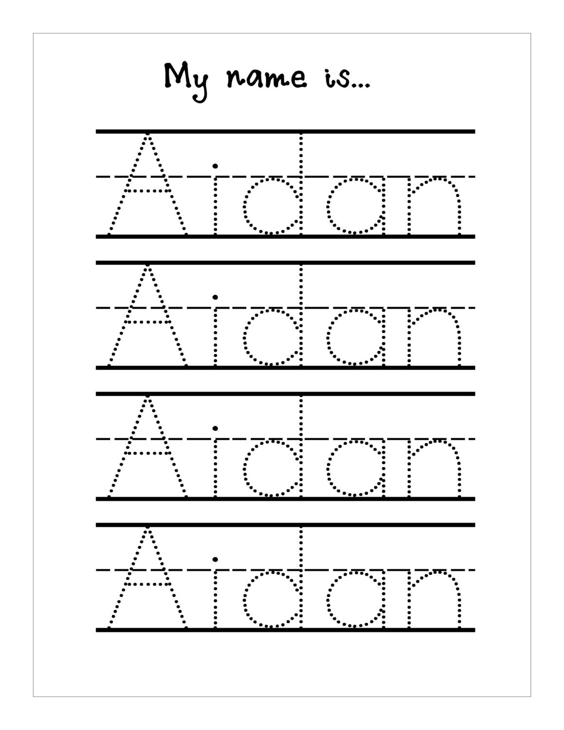 Trace Your Name Worksheet Printable