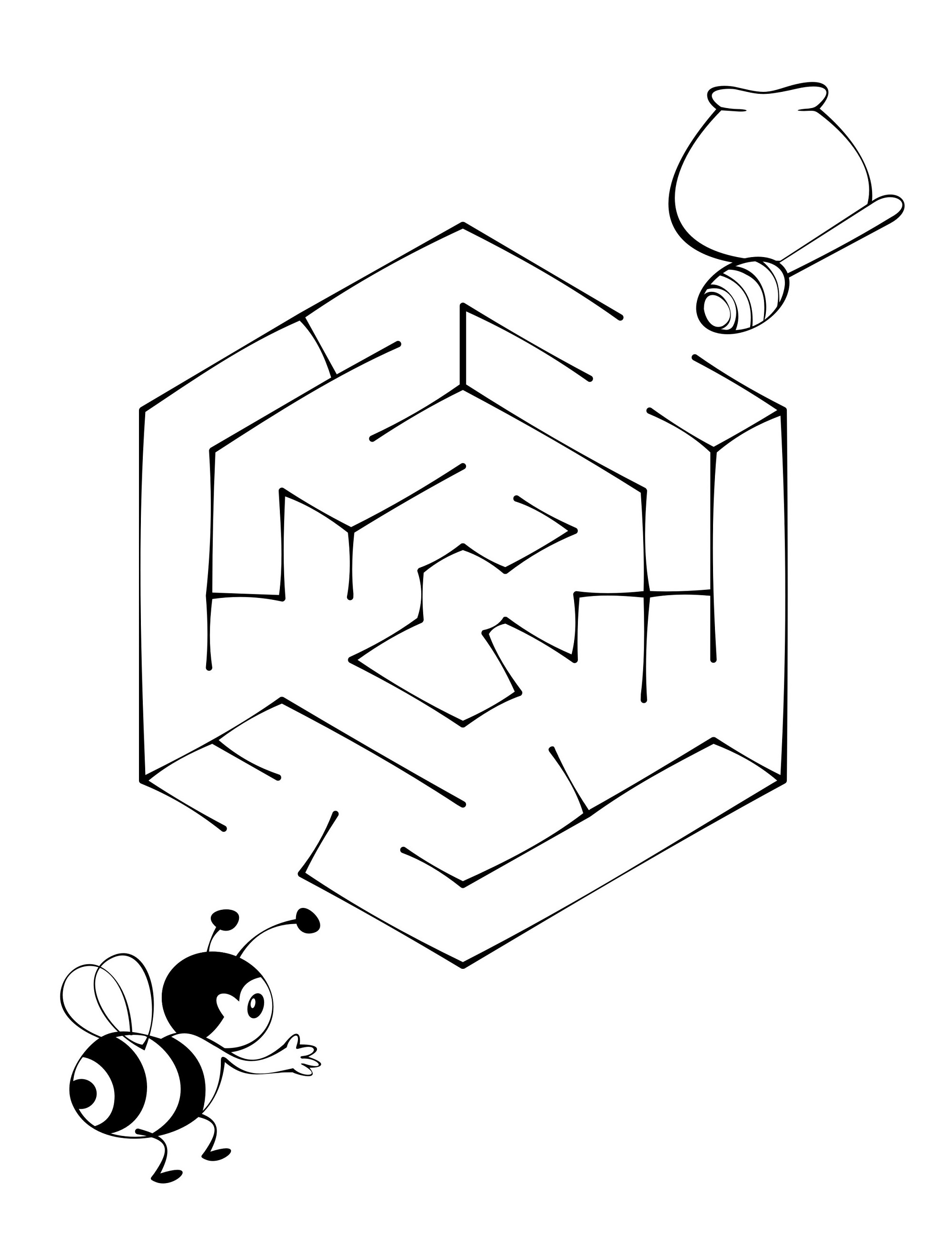 Maze Puzzle For Kids To Print