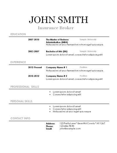 Successful Resumes Templates. Successful Resume Templates Examples