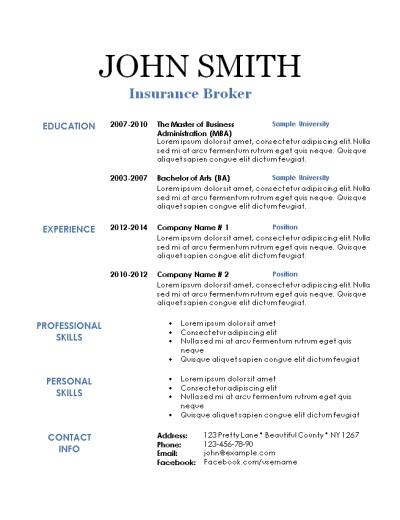 Free Printable Resumes Examples free printable resume templates – Free Printable Resume Templates