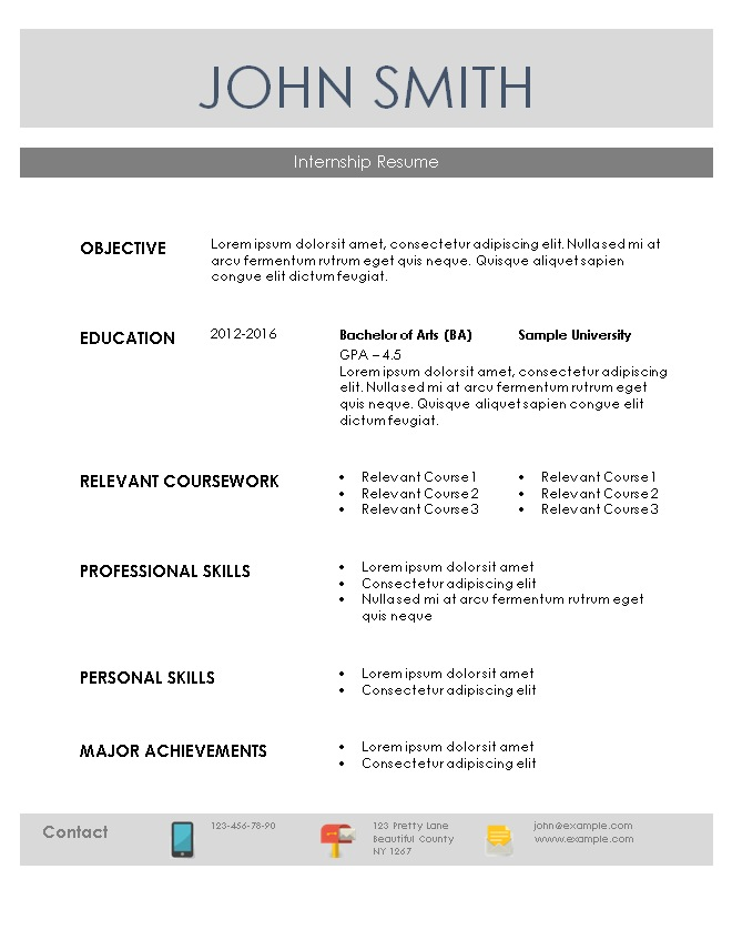 532751 resume examples for internship functional resume