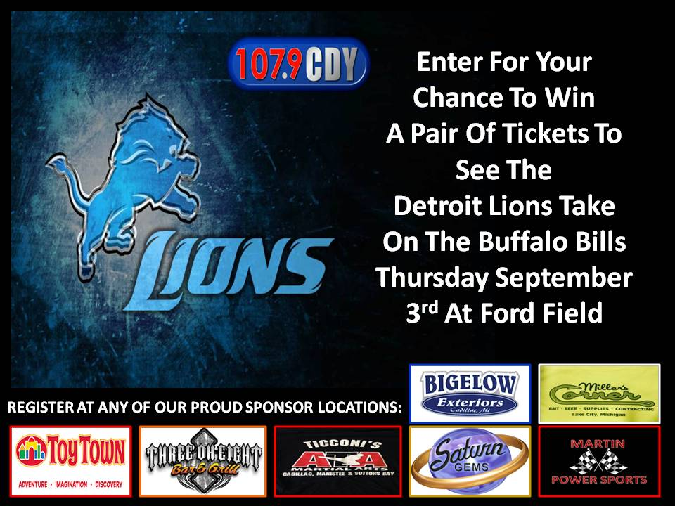 Detroit Lions Ticket Giveaway The New 107 9 Cdy
