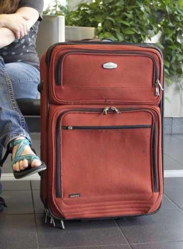 suitcase airport