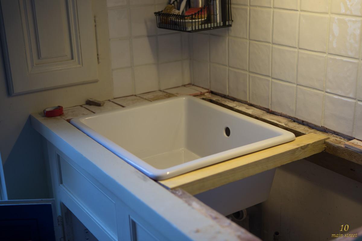 Renovation De La Cuisine Preparation De L Evier Ikea Domsjo Sous Plan