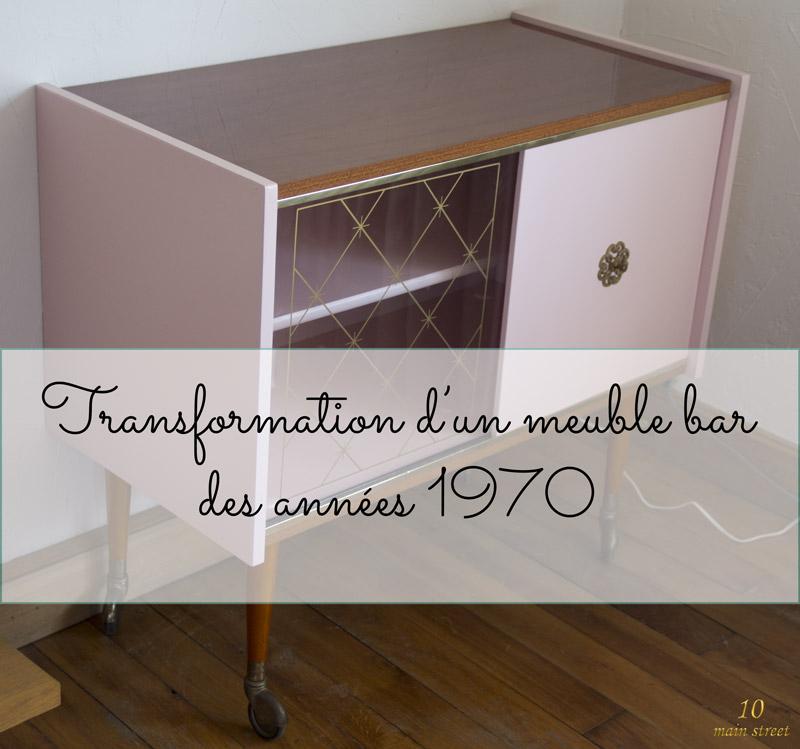 renovation d un meuble bar des annees