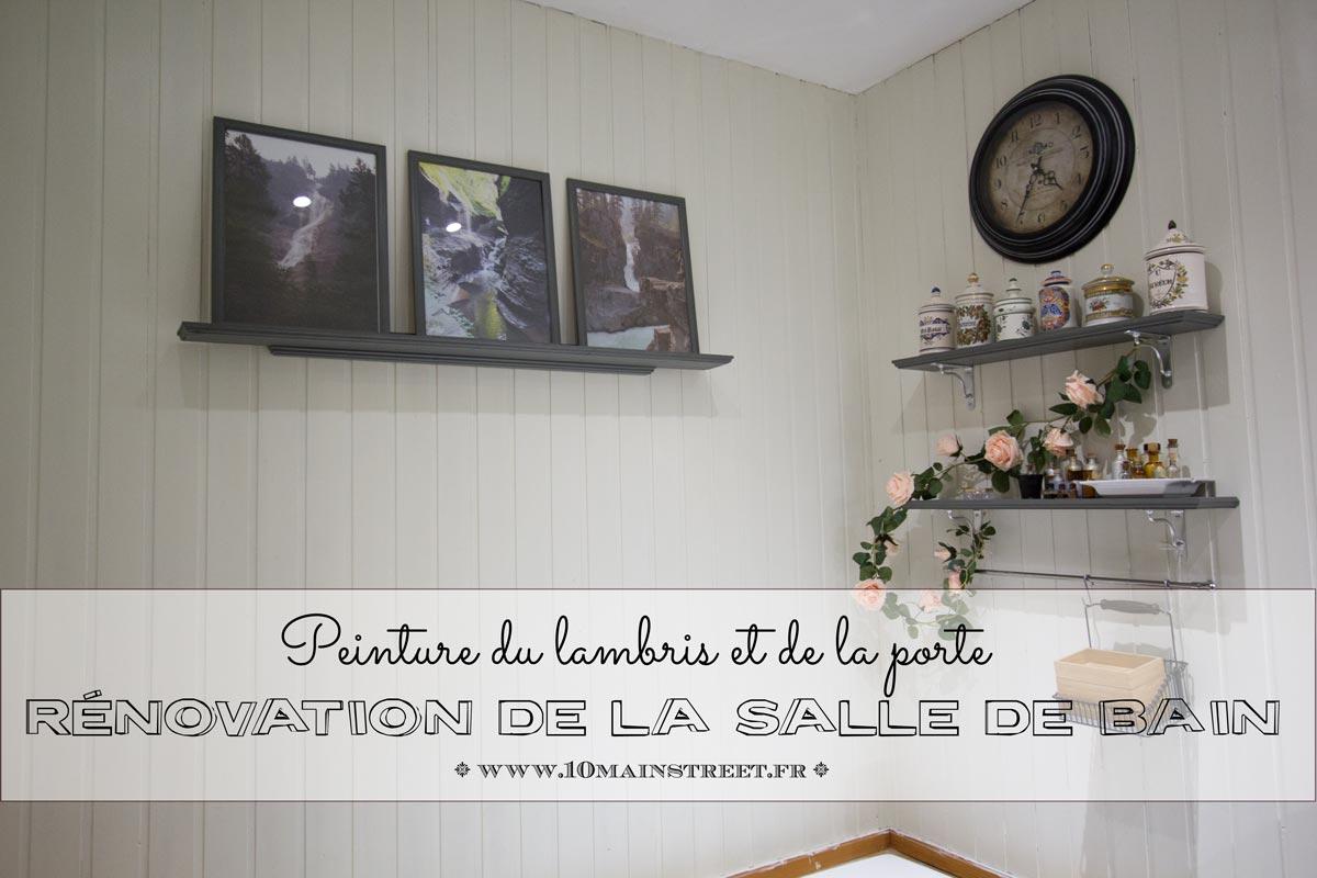Rénovation De La Salle De Bain : Peinture Du Lambris Et De La Porte