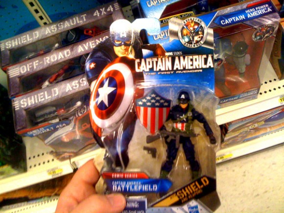 World War 2 Captain America Comic Figure