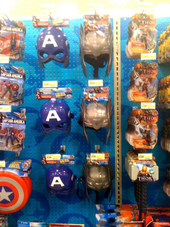 Captain America and Thor Movie Helmets